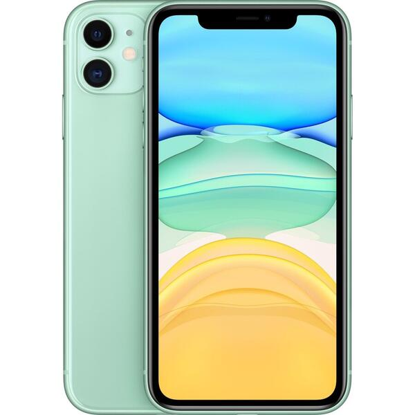 Telefon mobil Apple iPhone 11 mwly2rm/a, 64 GB, Verde