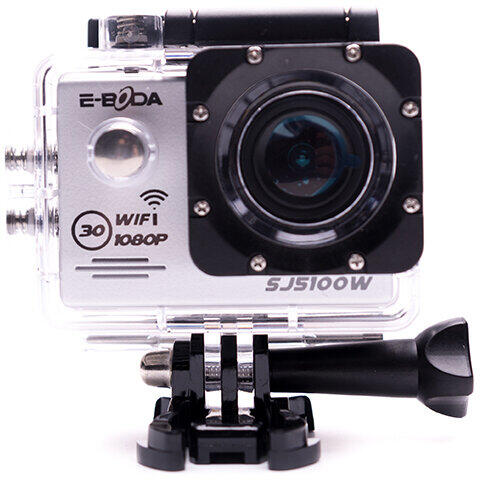 Camera video E-boda SJ5100W, Full HD, Rezistenta la apa, Wi-Fi, Argintiu