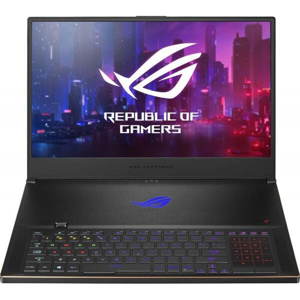 Laptop Asus GX701GWR-HG118T, i7-9750H, 17.3 inch FHD, 16 GB DDR4, 1 TB SSD, GeForce RTX 2070 8 GB, Win 10 Home, Black