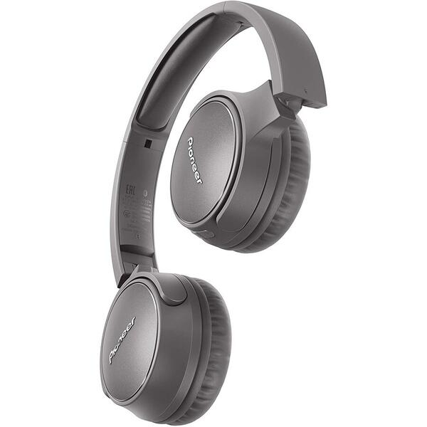 Casti Pioneer SE-S6BN-H, On-Ear, Wireless, Bluetooth 5.0, Gri