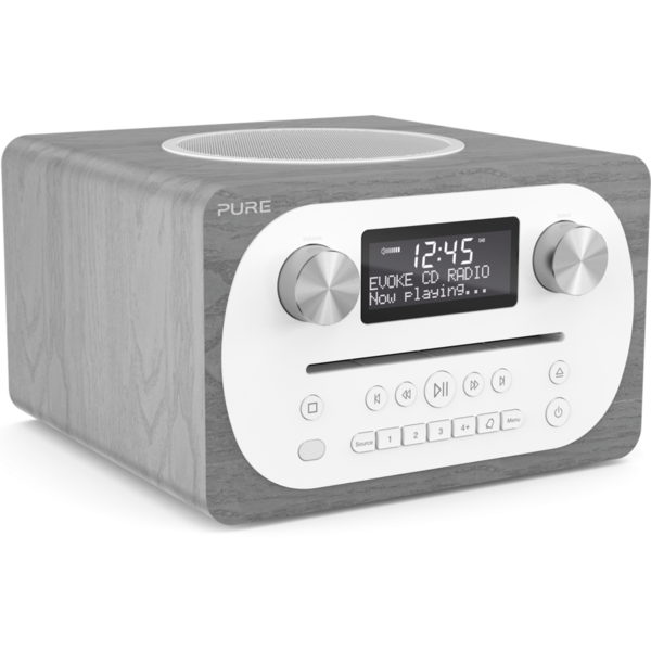 Radio Pure Evoke C-D4, DAB, DAB+ & FM Radio, Bluetooth, CD Player, Gri