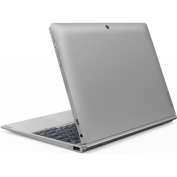 Laptop Lenovo D330-10IGM, 2 in 1 IdeaPad, Intel Celeron N4000 pana la 2.60 GHz, 10.1 inch, HD, 4GB, 64 GB eMMC, Intel UHD Graphics 600, Windows 10 Pro, Argintiu