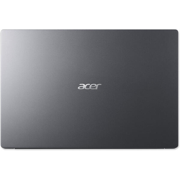 Laptop Acer NX.HHXEX.009, 14 inch Full HD, 4 GB DDR4, 256 GB SSD, GMA UHD, Win 10 Home, Steel Gray