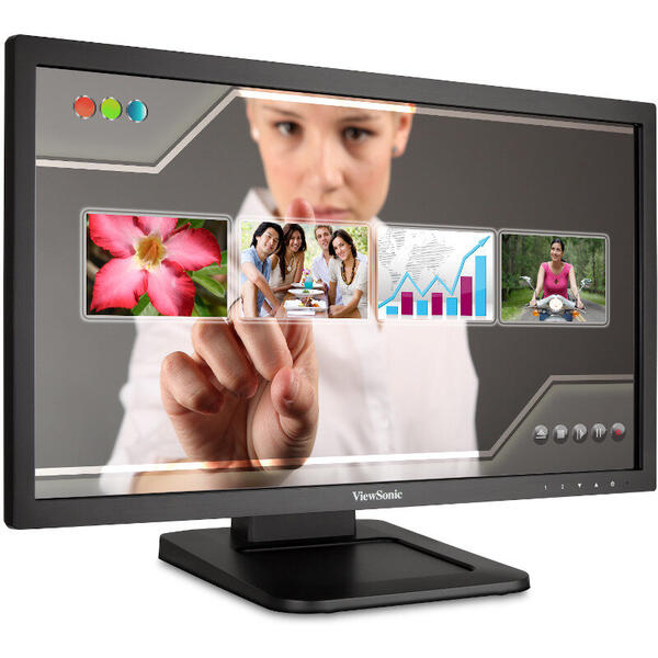 Monitor Viewsonic TD2220-2, LED, Touchscreen, 21.5 inch, 5 ms, Negru