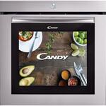 Cuptor incorporabil Candy WATCH-TOUCH/E, Electric, 80 l, Clasa A, Ecran 19 inch, Retete video, Argintiu/Inox