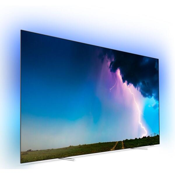 Televizor Philips 55OLED754/12, OLED, Smart, 139 cm, 4K Ultra HD, Argintiu