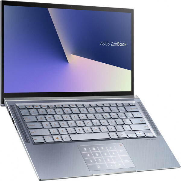 Laptop Asus ZenBook 14 UX431FL-AN029, Intel Core i7-8565U, 14inch, RAM 8GB, SSD 512GB, nVidia GeForce MX250 2GB, Endless OS, Utopia Blue