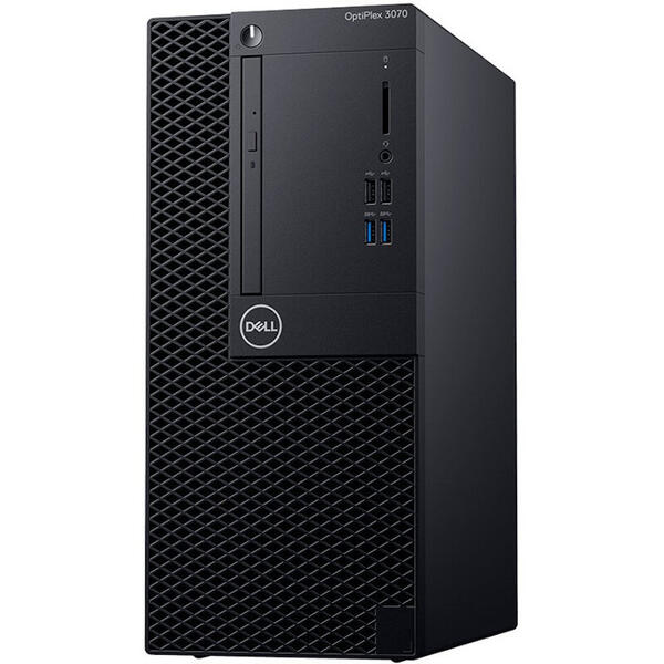 Sistem desktop Dell OPT 3070 MT i5-9500, 8 GB DDR4, 256 GB SSD, GMA UHD 630, Linux