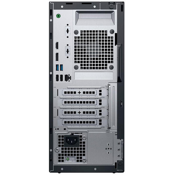 Sistem desktop Dell OptiPlex 3070 MT, Intel Core i7-9700, RAM 8GB, SSD 256GB, Intel UHD Graphics 630, Windows 10 Pro, Negru