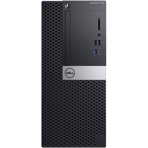 Sistem desktop Dell OPT 7070 MT i7-9700, 8 GB DDR4, 1 TB HDD, GMA UHD 630, Linux, Negru