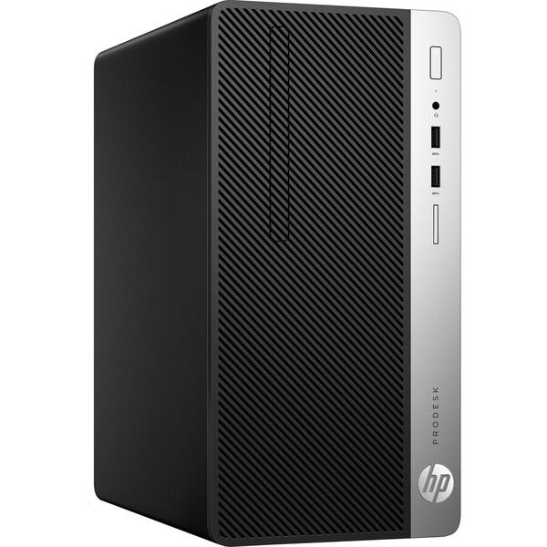 Sistem desktop HP 400 G6 MT, Intel Core i3-9100, RAM 4GB, SSD 256GB, Intel UHD Graphics 630, Windows 10 Pro