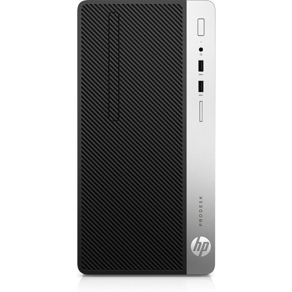 Sistem desktop HP 400 G6 MT, Intel Core i7-8700, RAM 8GB, SSD 256GB, Intel UHD Graphics 630, Windows 10 Pro, Negru