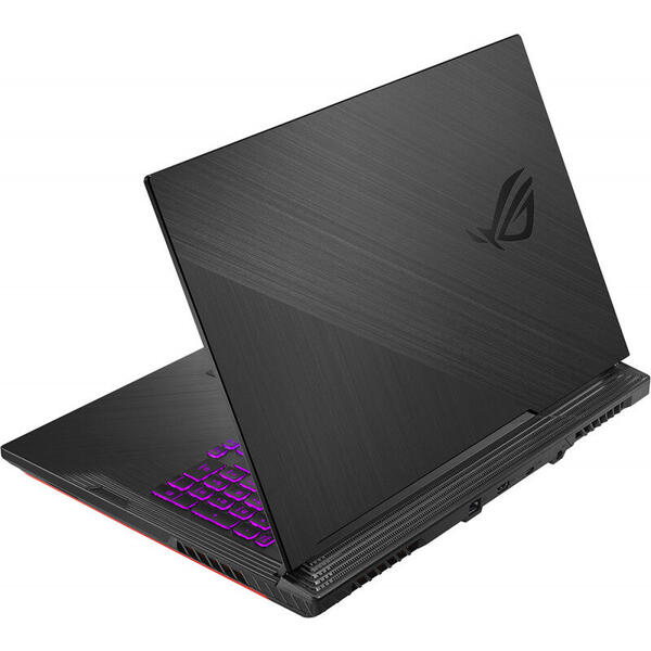 Laptop Asus ROG Strix G G731GT, FHD, Gaming 17.3 inch, Procesor Intel Core i7-9750H (12M Cache, up to 4.50 GHz), 8GB DDR4, 512GB SSD, GeForce GTX 1650 4GB, No OS, Black