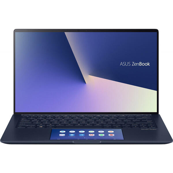 Laptop Asus ZenBook 13 UX334FAC, FHD, 13.3 inch, Procesor Intel Core i5-10210U (6M Cache, up to 4.20 GHz), 8GB, 512GB SSD, GMA UHD, Win 10 Home, Royal Blue