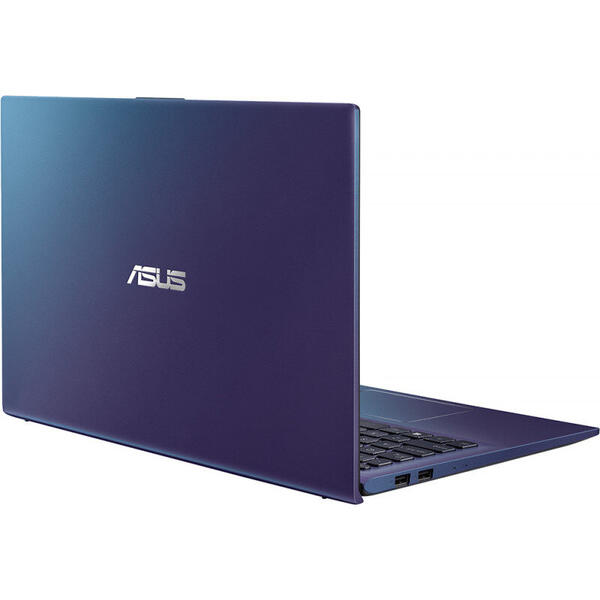 Laptop Asus VivoBook 15 X512JP, FHD, 15.6 inch, Procesor Intel Core i5-1035G1 (6M Cache, up to 3.60 GHz), 12GB DDR4, 512GB SSD, GeForce MX330 2GB, No OS, Blue