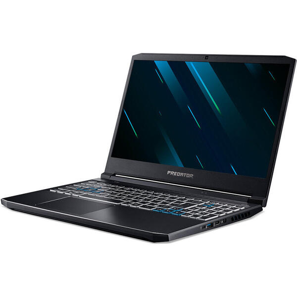 Laptop Acer Predator Helios 300 PH315-53, FHD IPS 144Hz, 15.6 inch, Intel Core i5-10300H (8M Cache, up to 4.50 GHz), 16GB DDR4, 512GB SSD, GeForce RTX 2060 6GB, Win 10 Home, Abyssal Black