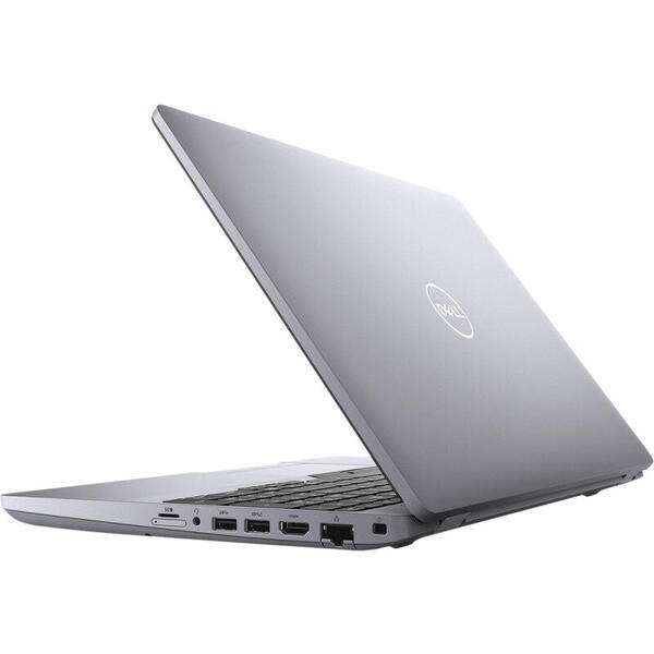 Laptop Dell Latitude 5511 (seria 5000), FHD, 15.6 inch, Procesor Intel Core i7-10850H (12M Cache, up to 5.10 GHz), 16GB DDR4, 512GB SSD, GMA UHD, Linux, Grey