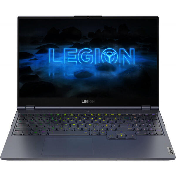 Laptop Lenovo 81YT004CRM, Gaming 15.6inch, Legion 7 15IMH05, Full HD IPS 240Hz G-Sync, Intel Core i7-10750H (12M Cache, up to 5.00 GHz), 32GB DDR4, 1TB SSD, GeForce RTX 2080 SUPER 8GB, No OS, Slate Grey