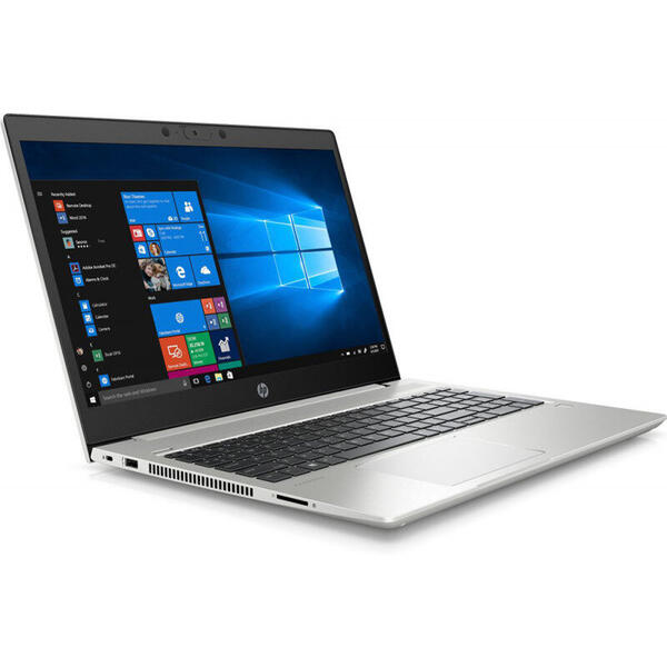 Laptop 9HP72EA, ProBook 450 G7, Full HD, 15.6 inch, Intel Core i7-10510U (8M Cache, up to 4.90 GHz), 8GB DDR4, 256GB SSD, GMA UHD, Free DOS, Silver