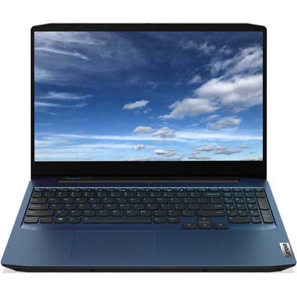 Laptop Lenovo 81Y4006HRM, Gaming  15.6inch, IdeaPad 3 15IMH05, FHD IPS, Procesor Intel Core i5-10300H (8M Cache, up to 4.50 GHz), 8GB DDR4, 512GB SSD, GeForce GTX 1650 Ti 4GB, No OS, Chameleon Blue