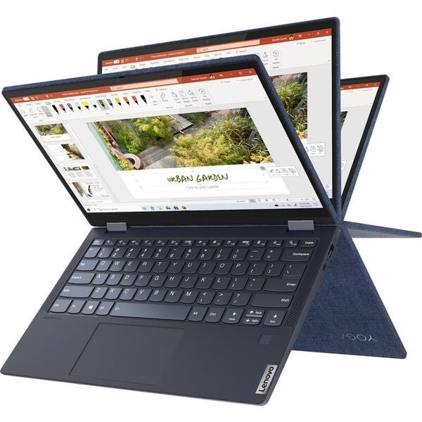 Laptop Lenovo Yoga 6 13ARE05, 13.3 inch, Full HD, IPS, Touch, AMD Ryzen 5 4500U (8M Cache, up to 4.0 GHz), 16GB DDR4, 512GB SSD, Radeon, Win 10 Home, Abyss Blue