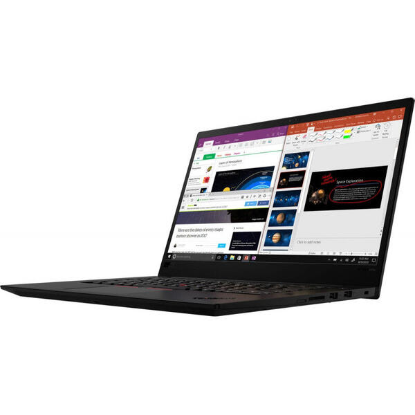 Laptop Lenovo ThinkPad X1 Extreme Gen 3, 15.6 inch, UHD, IPS, Intel Core i7-10750H (12M Cache, up to 5.00 GHz), 32GB DDR4, 1TB SSD, GeForce GTX 1650 Ti 4GB, 4G LTE, Win 10 Pro, Black Weave