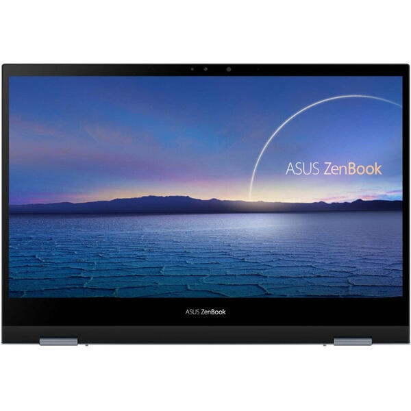 Laptop Asus ZenBook Flip 13 UX363EA, OLED, 13.3 inch, 2 in 1 Convertibil, Full HD, Touch, Intel Core i7-1165G7 (12M Cache, up to 4.70 GHz, with IPU), 8GB DDR4, 512GB SSD, Intel Iris Xe, Win 10 Pro, Pine Grey