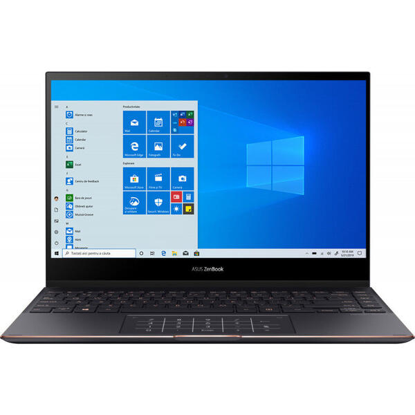 Laptop Asus ZenBook Flip S UX371EA, 13.3 inch, 2 in 1 Convertibil, Ful HD, Touch, Intel Core i7-1165G7 (12M Cache, up to 4.70 GHz, with IPU), 16GB DDR4X, 512GB SSD, Intel Iris Xe, Win 10 Pro, Jade Black